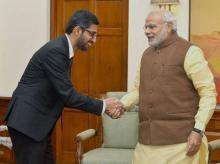 Sundar Pichai, Narendra Modi, Google, India