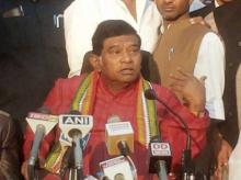 Former Chief Minister of Chhatisgarh Ajit Jogi addressing a press conference in Raipur. Photo: PTI