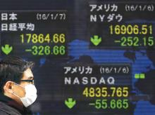 World stocks dip as China slowdown deepens, German barely escapes recession