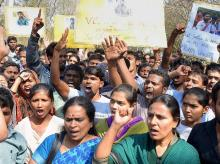 Representative image of students protesting