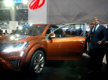 Anand Mahindra, CMD  of Mahindra Group unveils the XUV Aero car during the Auto Expo 2016 in Greater Noida