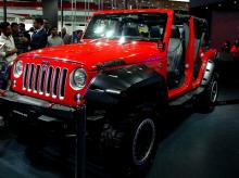 The Jeep SRT displayed during the Auto Expo at Greater Noida (pic: Dalip Kumar)