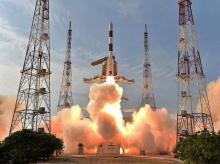 Isro's PSLV-C32 carrying India's navigation satellite, the IRNSS-1F lifts off successfully from the Satish Dhawan Space Centre, Sriharikota in Andhra Pradesh