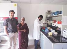 Swagene founders (from left) Sooraj Ratnakumar, K M Vani and scientist Shaswath Chandrasekar