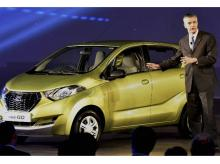Global Head of Datsun, Vincent Cobee during the launch of New Datsun redi-GO car in  New Delhi