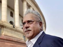 A file photo of liquor baron Vijay Mallya at Parliament
