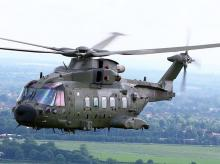 British AgustaWestland AW101 'Merlin' HC3A in June 2012 (Source: Wikipedia, Cpl Phil Major ABIPP RAF)