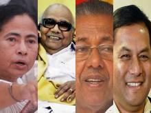 Mamata Banerjee of Trinamool Congress, M Karunanidhi  of DMK, Pinarayi Vijayan of CPI-M-led Left Front and Sarbananda Sonowal of BJP