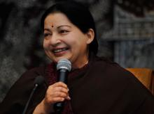 AIADMK's J Jayalalithaa is set to be the CM for the second consecutive time. Photo: Wikipedia