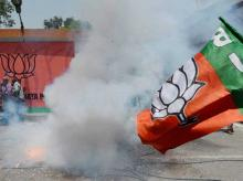 Fireworks outside BJP office in Assam on day party recorded victory in 2016 assembly polls