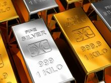 gold and silver, silver, gold