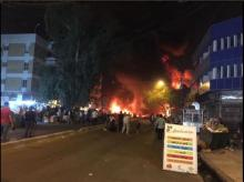 An explosion hits Karada district in central Baghdad, casualties reported. Photo tweeted by @abdullahawez