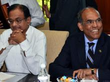 Duvvuri Subbarao with P Chidambaram