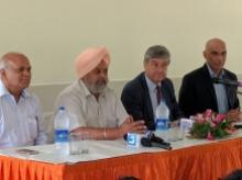 Dignitaries at the launch of Schreiber Dynamix's new dairy plant at Fazilka, Punjab
