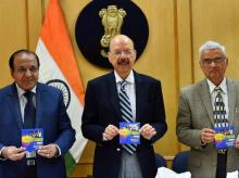 Chief Election Commissioner Nasim Zaidi along with Election Commissioners O P Rawat and A K Joti