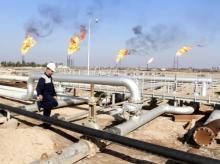 Nahr Bin Umar oil field, north of Basra, Iraq