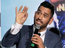 Ace Cricketer M S Dhoni speaks during the trailer launch of the movie 'MS Dhoni - The Untold Story' in Mumbai.