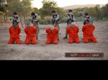 Minor ISIS jihadis executing prisoners. (Photo: Video grab)
