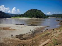 A view shows Ban Sob Moei, a Thai village located at the confluence of Moei and Salween rivers, which is threatened by the planned Hatgyi dam in Myanmar