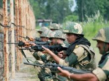 BSF personnel keeping a tight vigil