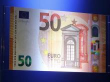 The European Central Bank presents the new 50 euro note at the bank's headquarters in Frankfurt, Germany. Photo: Reuters