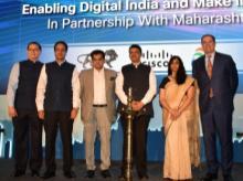 Dignitaries at Cisco's event in Mumbai