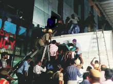 Rescue work underway at the Institute of Medical Sciences and Sum Hospital in Bhubaneshwar on Monday night