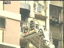 Fire broke out in Maker Tower in Cuffe Parade area in Mumbai, now under control. (Photo: ANI)