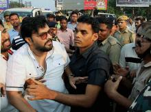 Union Minister Babul Supriyo after being attacked by TMC workers in a clash in Asansol district. (Photo: PTI)