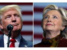 US President Donald Trump and Democratic Party leader Hillary Clinton