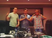 Yoli's founding team: Drew Kirchhoff, Luke Priddy, and James LaLonde (left to right)  Photo: Tech in Asia
