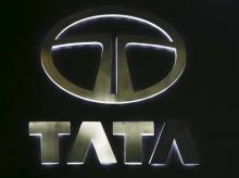The logo of Tata Motors