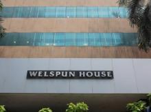 Welspun corporate office building is pictured in Mumbai