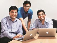 (From left) Anurag Jain, Puneet Agarwal and Manish Kumar, co-founders of KredX