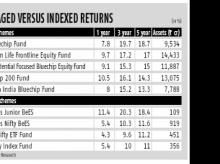 Two passive funds outperform large-cap ones