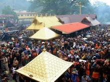 Lord Ayyappa temple at Sabarimala. Photo: PTI