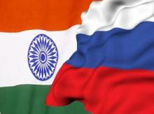India-Russia flags