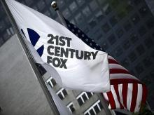 The flag of the 21st Century Fox Inc. Photo: Reuters