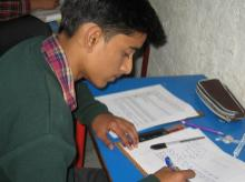 A class XII student preparing for his exams