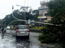Traffic movement was largely impacted by cyclone Vardah that made a landfall near Chennai coast on Monday