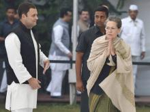 File photo: Congress Vice-President Rahul Gandhi with party President Sonia Gandhi