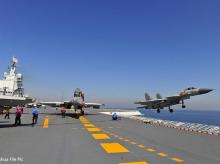 China's aircraft carrier Liaoning conducts drill in South China Sea