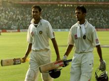 VVS Laxman and Rahul Dravid against Australia at the Eden Gardens in 2001, a match that the hosts won after following on