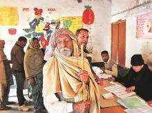 Representative image of a polling booth