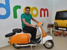 Sandeep Aggarwal of Droom at his office in Gurugram. Photo: Sanjay K Sharma