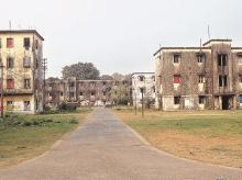 The staff quarters inside the factory township. Photo: Subrata Majumder