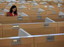 The trading floor at the Shanghai Stock Exchange in Lujiazui Financial Area in Shanghai, China. Photo:  Reuters