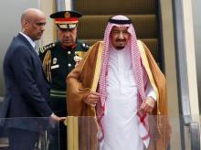 Saudi Arabia's King Salman (R). Photo: Reuters