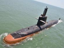File pic of P 75 submarine Kalvari