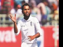 England's Adil Rashid picked up 23 wickets against India last year, finishing just behind Ravichandran Ashwin and Ravindra Jadeja, who had 28 and 26, respectively. Photo: Reuters